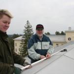 OH7FDN ja OH7RJ tuunaavat OH7RDA:n antennia
